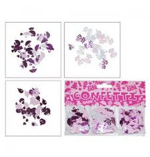 Confetti it´s a girl tafel decoratie