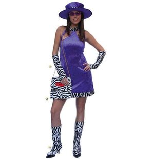 Costume Disco Lady Purple