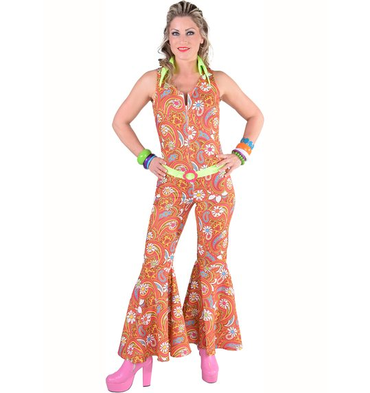 70 \'s hippie jumpsuit Paisley patterned