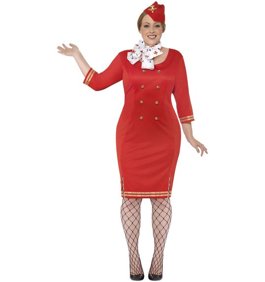 Air hostess costume red