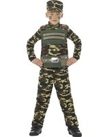 Camouflage army costume for boys SM-48209