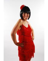 Charleston dress glitter Red PWG0014