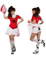 Cheerleader costume with matching shorts AT-23014/23012/23011