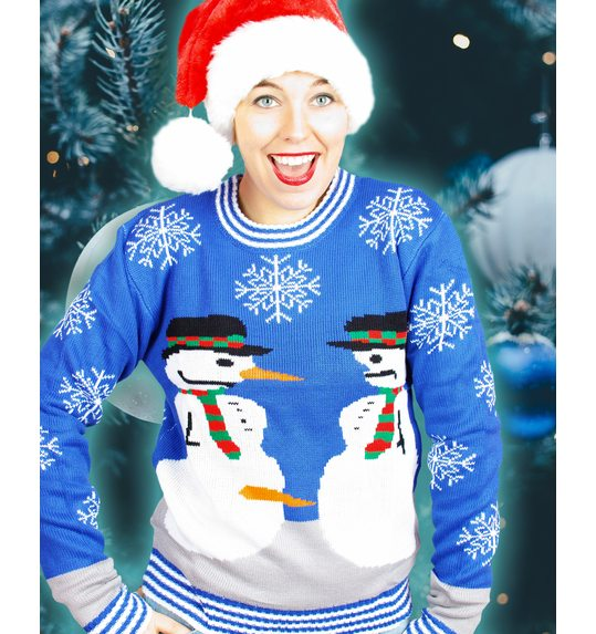christmas sweater dirty snowman for both men and women - Dirty Christmas Sweater