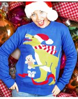 Christmas sweater with dinosaur for both men and women PWB0392