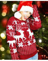 Christmas sweater with reindeer for men and women PWB0389