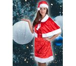 Christmas woman dress with cape