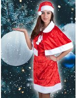 Christmas woman dress with cape PWA2250