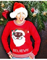 Christmass sweater believe unisex PWB0395
