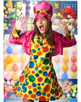 Clown costume for women lask0582