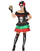 Day of the Dead Mexican Halloween Costume AT-34732/34733/34735/39549
