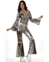Disco jumpsuit silver for women AT-10441/10442/10443
