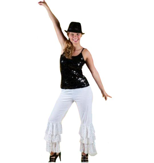 Disco trousers unisex abba black