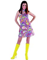 Dress funky colours hippie seventies 209129