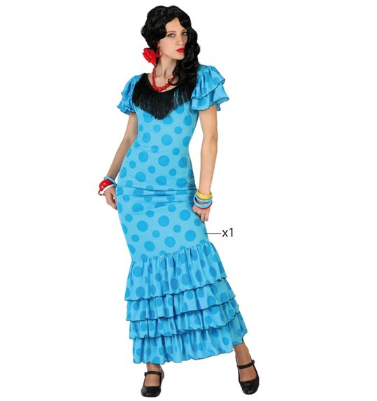 Flamenco costume blue