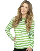 Green with white striped t-shirt SM-46882