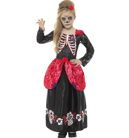 Halloween day of the dead dress for girls