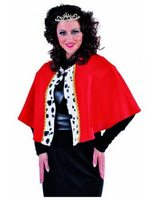 King cape red with Dalmatian print MA-214174