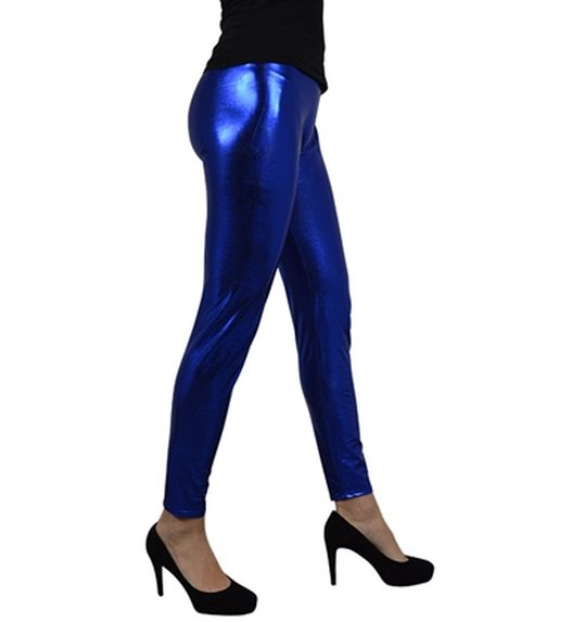 Legging metallic blue