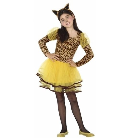Leopard dress for girls