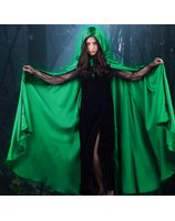 Long Cape satin Green PWA0042