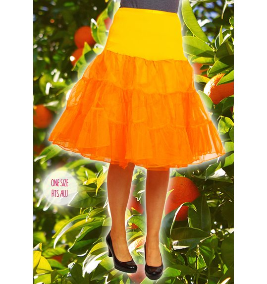 Luxury underskirt orange