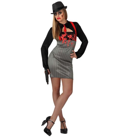 Mafia zombie dress for ladies