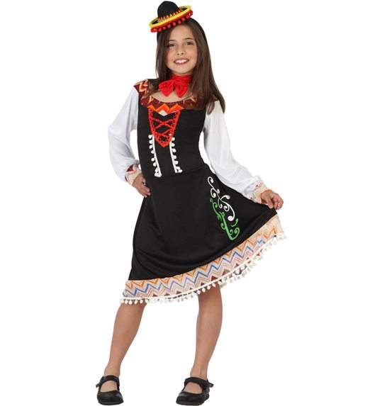 Mariachi mexican dress up costume for girls
