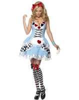Miss wonderland costume with dress and hairtie SM-21009
