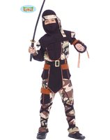 Ninja commando costume for boys GU-81451/81452/81453