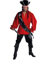 Pirate with red blouse costume for men MA-215209