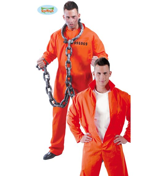 Prisoner costume USA Orange L