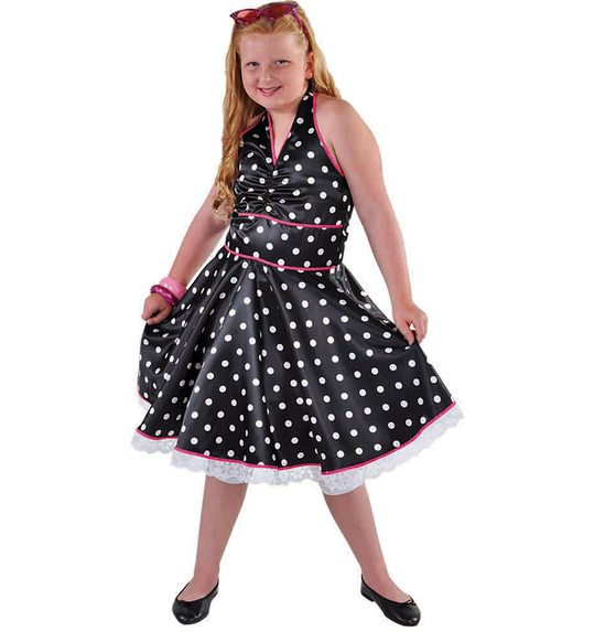 Rock N Roll Dress With Dots For Girls