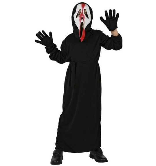 Scream boy costume with blood