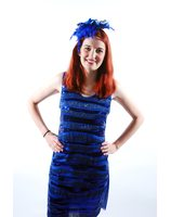 Sequin dress Blue disco party queen pwg0048