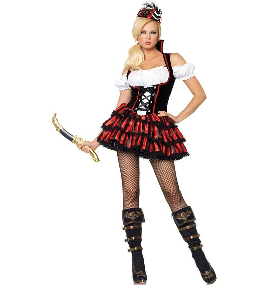 Sexy Pirate Lady fancy dress deluxe