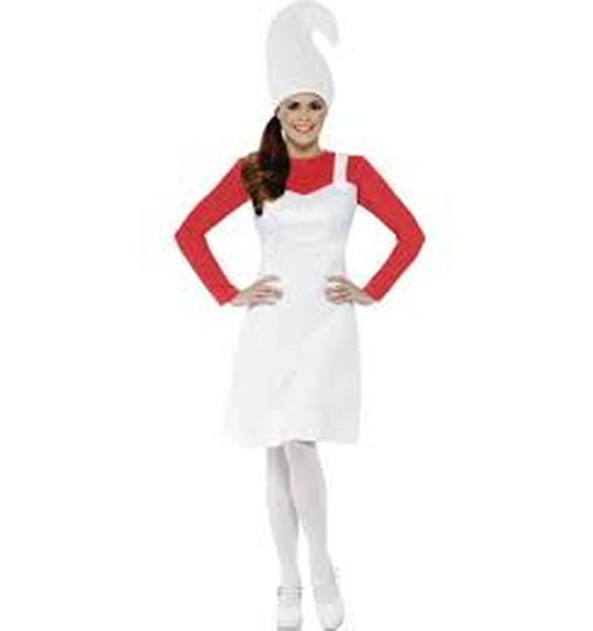 Smurfette dress red with white dress and hat