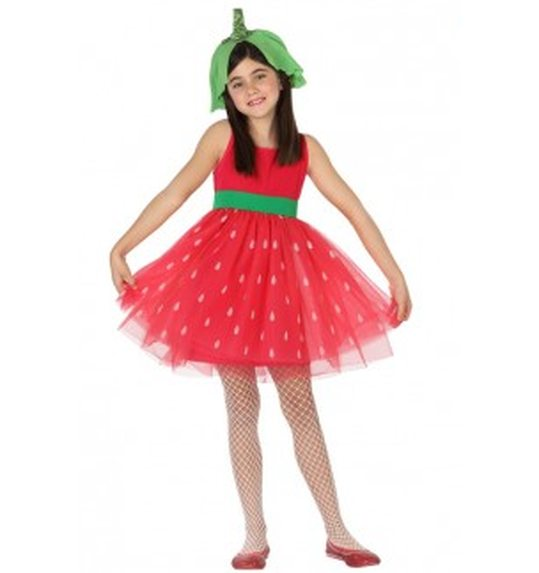 Strawberry costume for girls