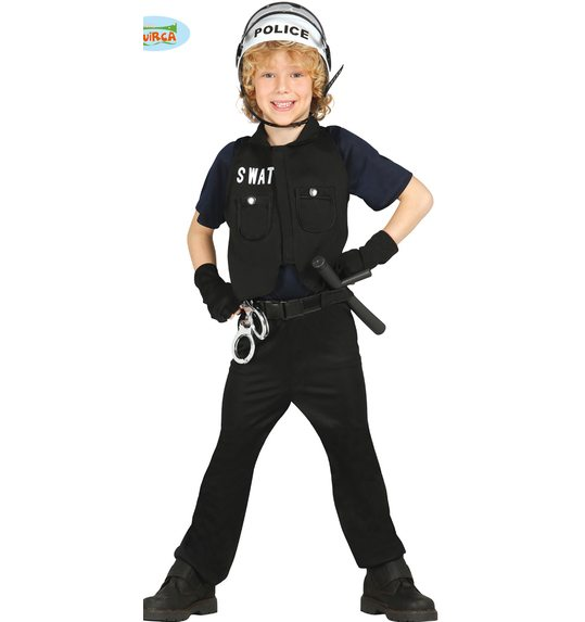 S.w.a.t. carnival costume for children