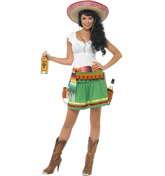 Tequila shooter mexican costume for ladies