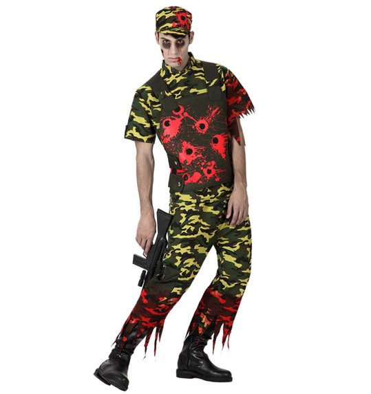 Zombie army costume halloween