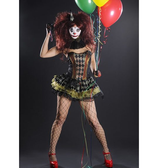 zombie clown halloween dress