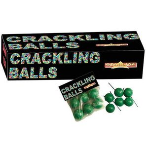 Crackling balls 6 PCs