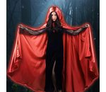 Cape en Satin rouge