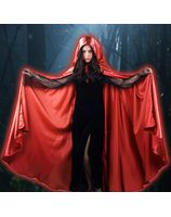 Cape en Satin rouge LASK0443RO