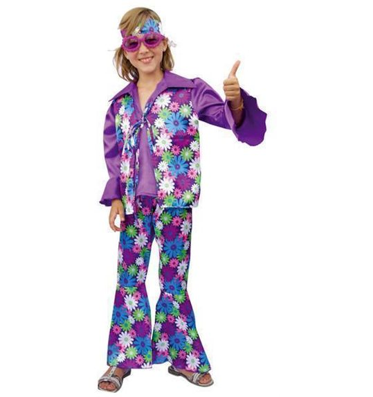 Costume hippie pour Kids Purple