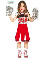 Deguisement Cheerleader rouge USA GU-82790/82791/82792