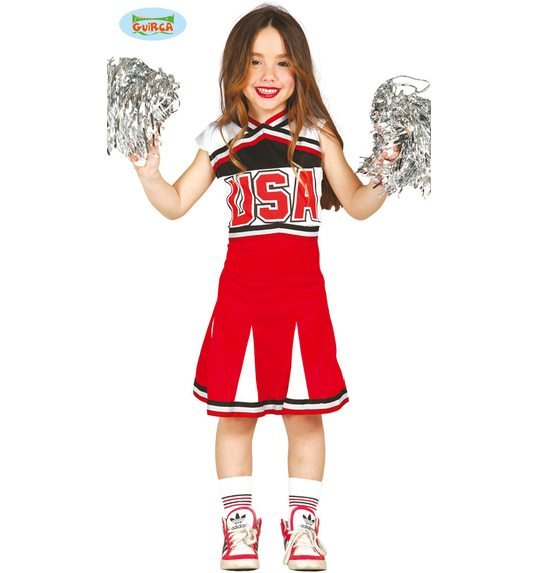 Deguisement Cheerleader rouge USA