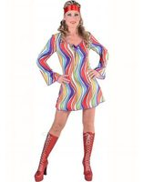 Robe disco hippie arc-en-ciel 217157.209