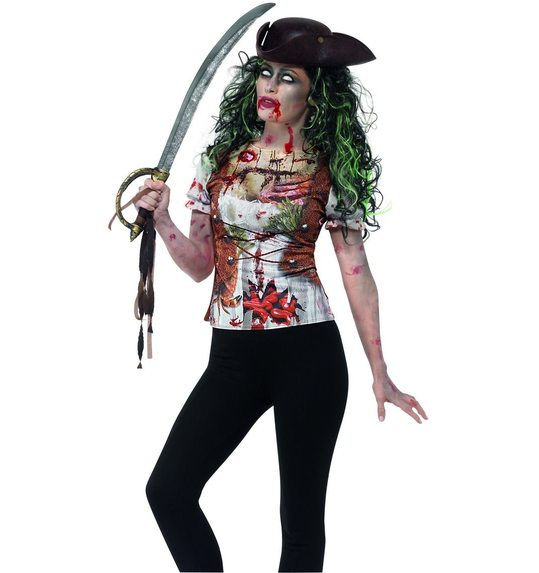 T-shirt pirate femme Zombie